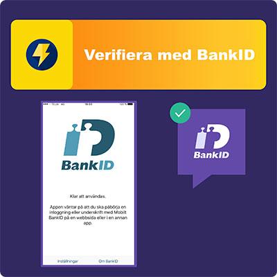 Steg 3 - Verifiera med BankID
